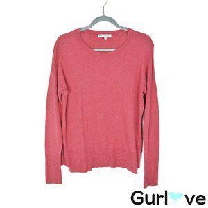 White + Warren M Pink Silk Sweater